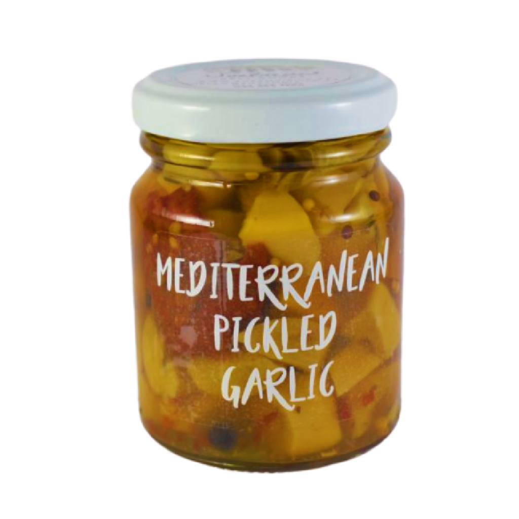Mediterranean Pickled Garlic