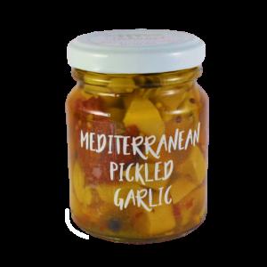 Mediterranean pickled garlic